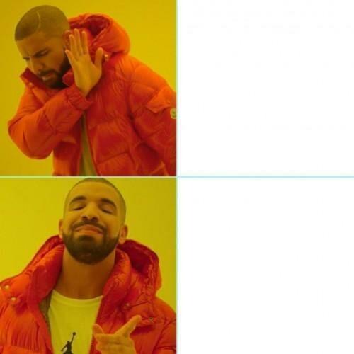 """Stills from Drake's """"Hotline Bling"""" often used as a meme"""