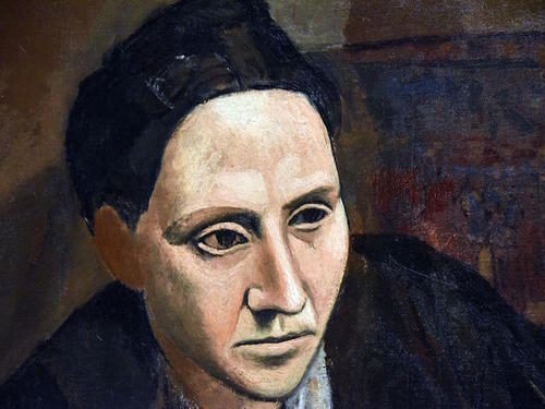 A portrait by Picasso of Gertrude Stein.
