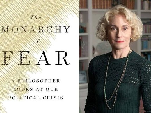 Photo of book cover with author Martha Nussbaum