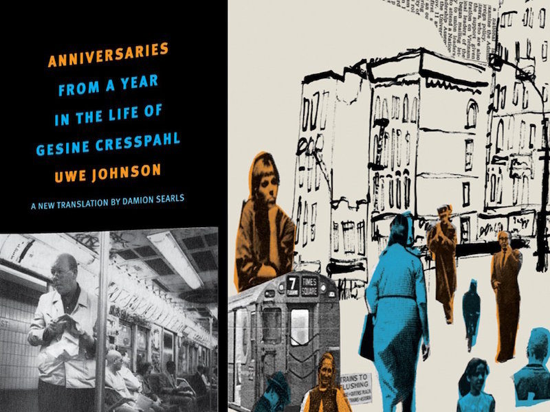 An image of the book cover Anniversaries by Uwe Johnson.