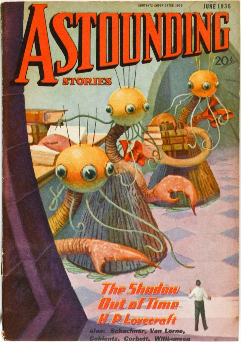 Astounding Stories, The Shadow Out of Time by H.P. Lovecraft, June 1936