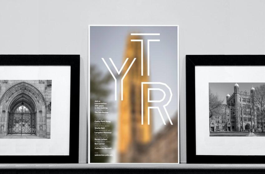 Photos of Yale University, and a cover of The Yale Review.