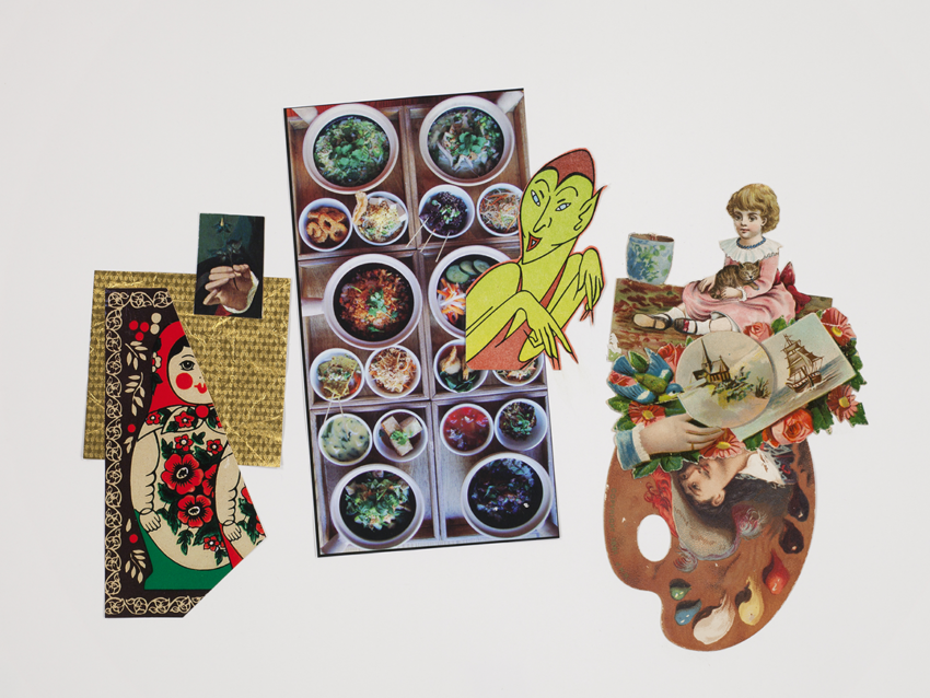 John Ashbery, Palette, collage, 2011. © Estate of John Ashbery, courtesy Tibor de Nagy Gallery, New York.