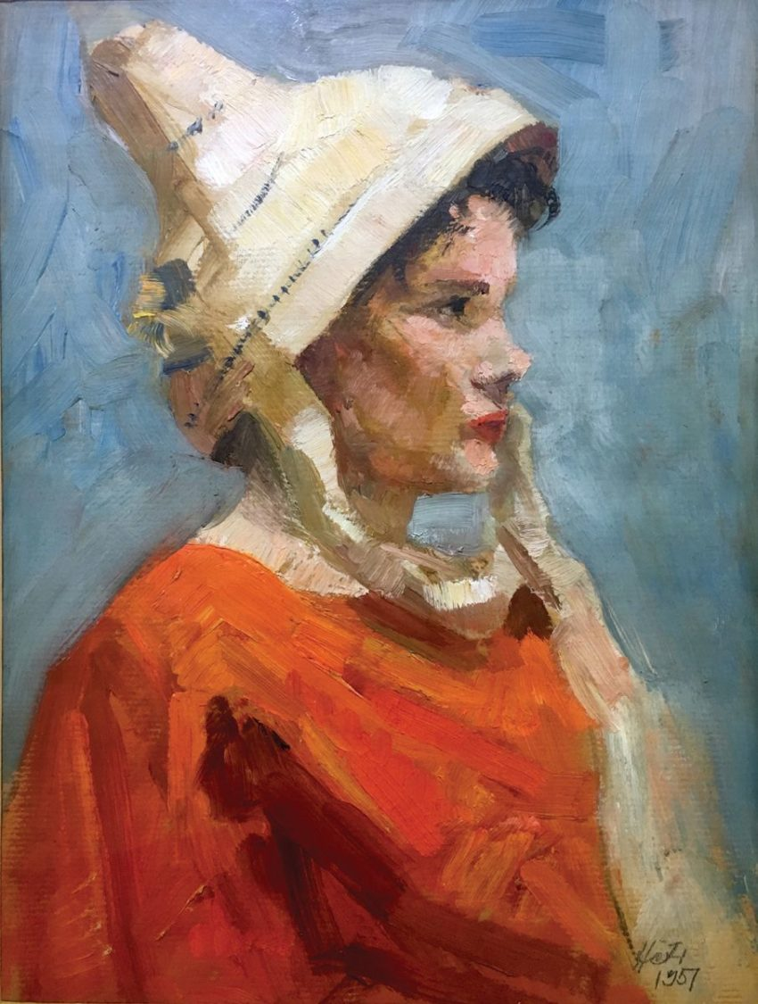 """George Heti's painting """"Portrait of a Woman in a Hat"""""""
