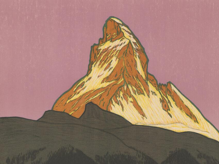 Illustration of Matterhorn (mountain).