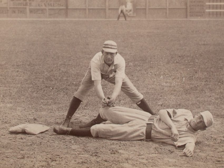 An old photo of baseball players