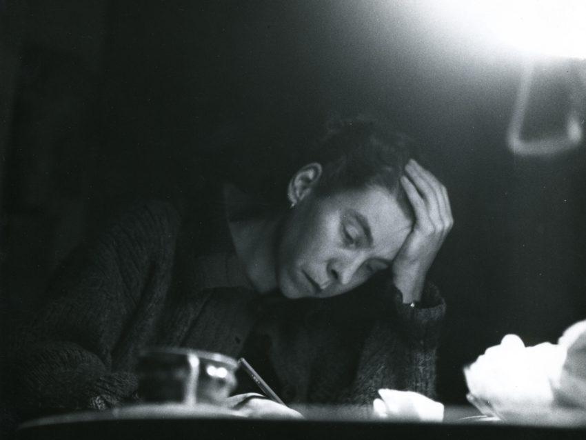 Tove Jansson at her desk. ©Eva Konikoff/Moomin Characteers™