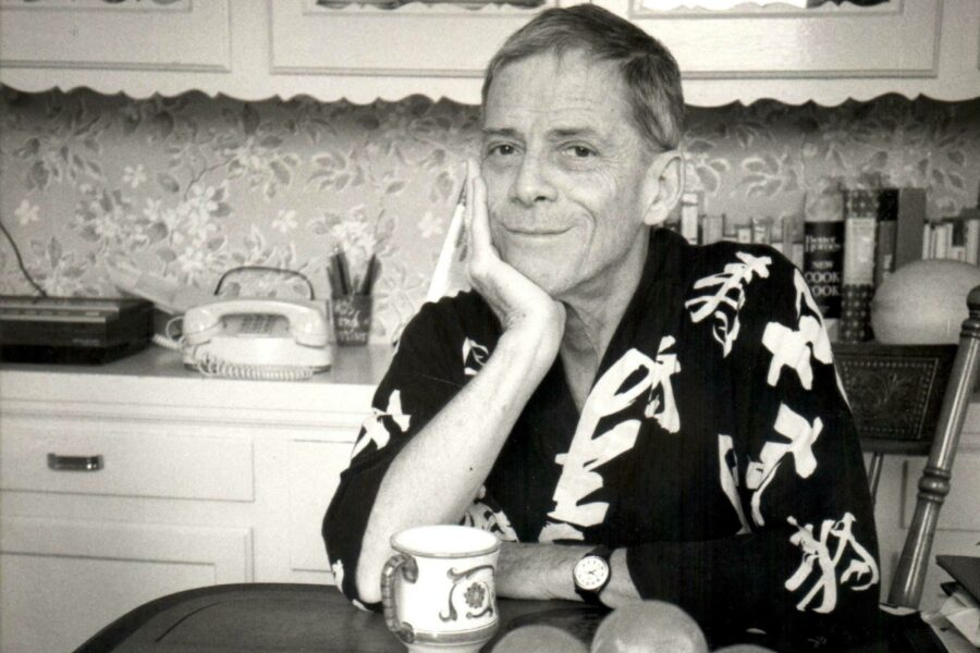 James Merrill in a kitchen