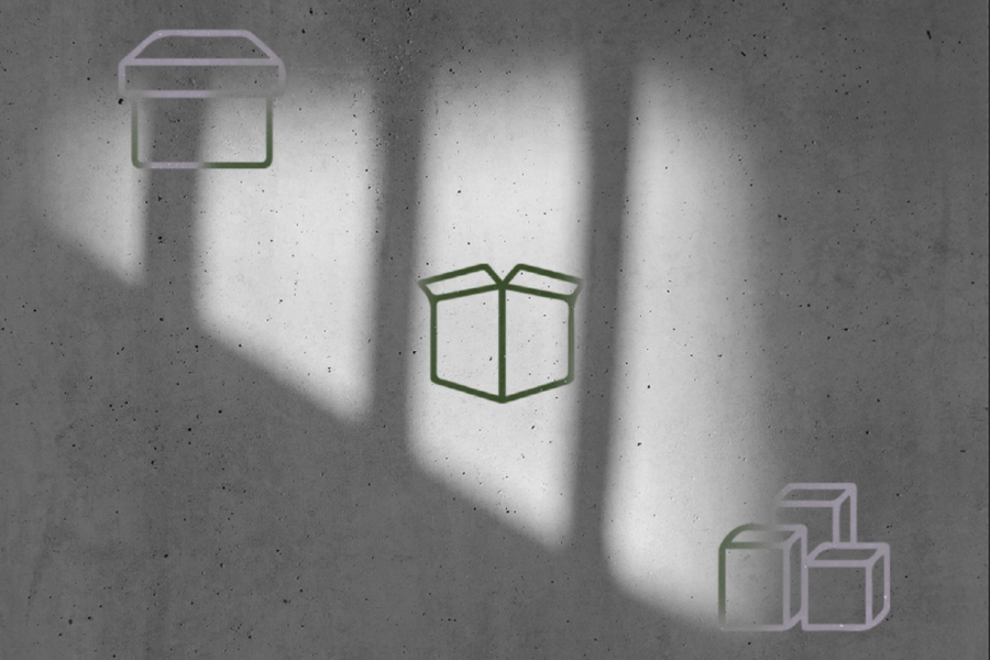 Graphic with a shadowy background and boxes. Illustration by Laura Padilla Castellanos.