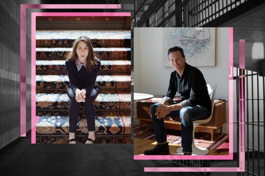 Portraits of Caleb Smith and Rachel Kushner