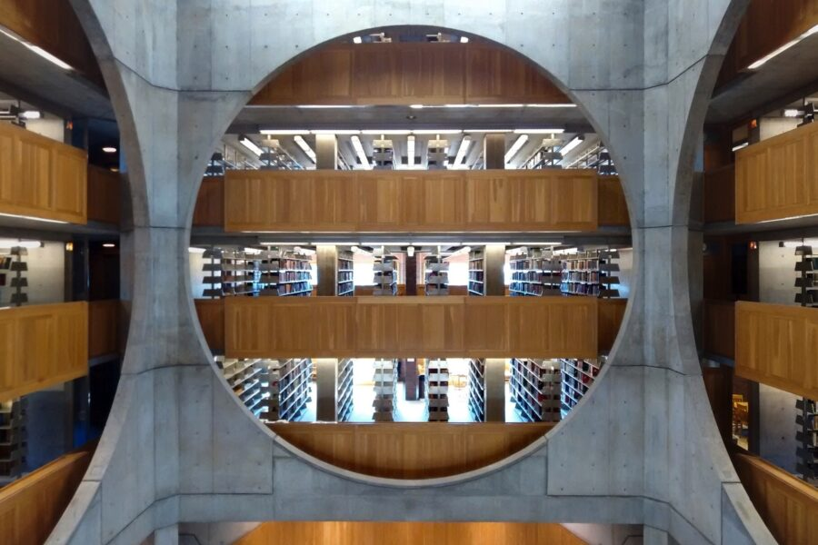 Interior view of library.