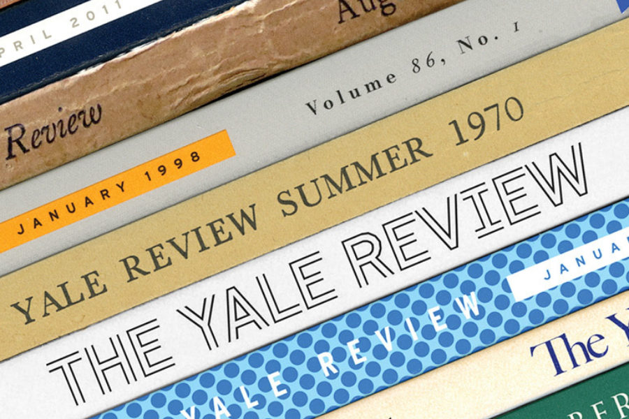 A stack of old issues of The Yale Review. Courtesy Pentagram