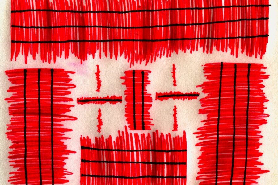 Red texture in cloth