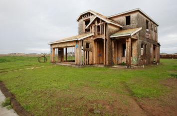 A half-finished house.