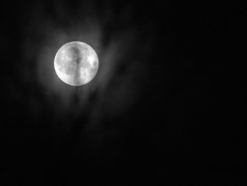 Photograph of the moon. Benson Chan / Public Domain