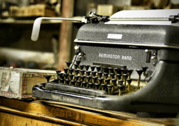 A typewriter. https://www.flickr.com/photos/22017189@N00/2621358221