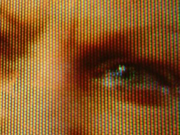 Pixelated zoomed-in photo of a face. Martin Howard / Creative Commons