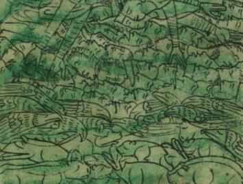 Detail from The Flood of Noah (Genesis 7:11-24), ms W.106.3R, Walters Art Museum.