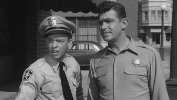 """A still of Andy Griffith and Don Knotts in """"The Andy Griffith Show."""""""