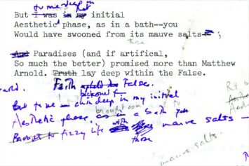 A page from one of James Merrill's manuscripts
