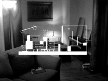Graphic of a living room. Illustration by Laura Padilla Castellanos