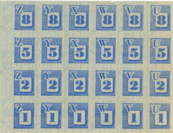 Blue stamps from WWII ration book