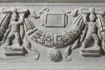 Marble sarcophagus with garlands ca. A.D. 200–225. Metropolitan Museum of Art.