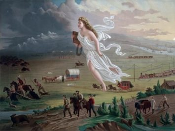 Picture of angel figure over the plains