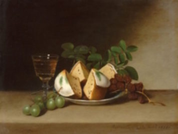 Raphaelle Peale, Still Life with Cake, 1818