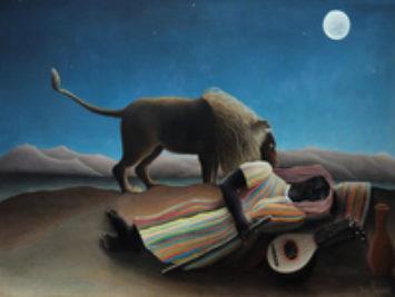 Henri Rousseau, The Sleeping Gypsy, 1897.