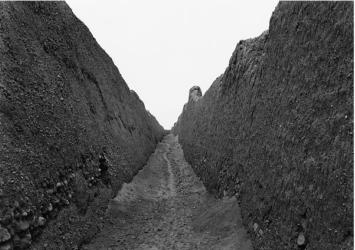 """Corridor, Ciudadela Rivero, Chan Chan,""  a photography by Edward Ranney"