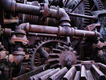 Photo of gears and machinery
