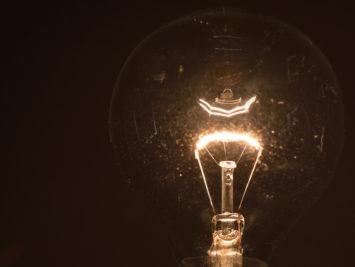 close up of a lightbulb