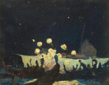 A night scene in Venice. Arthur B. Charles. Courtesy The Smithsonian.