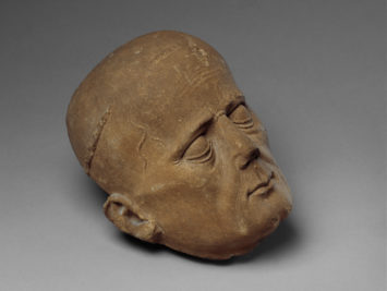 Head of a cleric from a tomb effigy. France, 1450-1460, Courtesy Metropolitan Museum of Art.