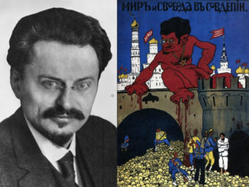 Propaganda poster of Leon Trotsky