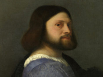 Portrait of a Man with a Quilted Sleeve by Titian, 1509.