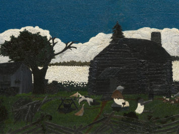 Horace Pippin, Cabin in the Cotton, c. 1931–1937. From the Art Institute of Chicago.