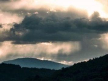 A stormy sky.