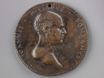 An image of an old coin.