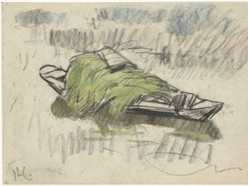 A sketch in green