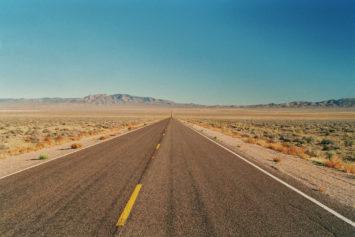 Sandy highway in Nevada