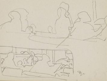 Figuren zittend in een interieur, mogelijk van een café, Reijer Stolk. From the Rijksmuseum.