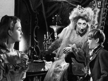 A movie still of Great Expectations, 1946.