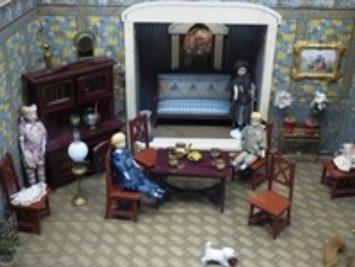 An interior of a dollhouse