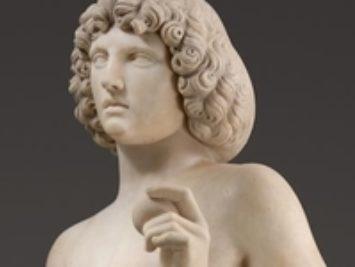 Marble sculpture of Adam. Tullio Lombardo, detail Adam, ca 1490-95. Courtesy Metropolitan Museum of Art, New York.