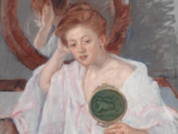 Denise at Her Dressing Table by Mary Cassatt,  1908-09.